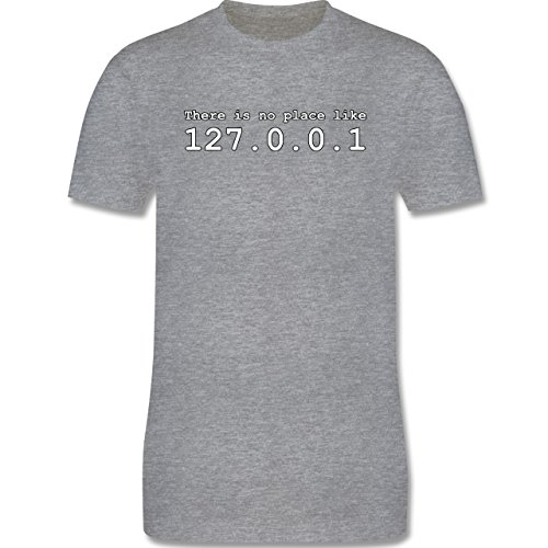 Programmierer - There is no place like 127.0.0.1 - Herren Premium T-Shirt Grau Meliert