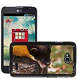 Grand Phone Cases Carcasa Funda Prima Delgada SLIM Casa Case Bandera Cover Shell para // M00141648 Giallo Martora dalla gola Marten // LG Optimus L70 MS323