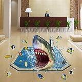 JUNMAO 3D Ozean Tier Hai Wandaufkleber/Wandbild Aufkleber/Wand Poster/Wandgemälde (-12)