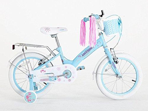 Bicicleta para niñas de 3 a 6 años, 40,6 cm, con ruedines, de Greenway, color azul, tamaño 16
