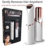 Flawless Women's Painless Face Hair Remover Machine/Trimmer Shaver for Upper Lip, Chin, Eyebrow