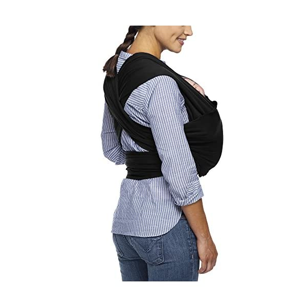 MOBY Evolution Baby Wrap Carrier for Newborn to Toddler up to 30lbs, Baby Sling from Birth, One Size Fits All, Breathable Stretchy Made from 70% Viscose 30% Cotton, Unisex Moby 70% Viscose / 30% Cotton Knit One-size-fits-all Grows with baby, from newborn to toddler 18