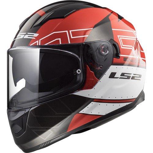 LS2 Helm Moto Stream Evo KUB rot schwarz–M, Rot/Schwarz, Größe M (Motorrad Helm Evos)