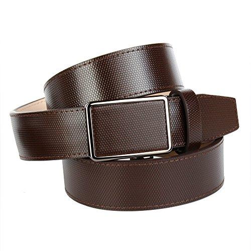 Anthoni Crown ceinture pour homme 3,5cm largeur, brun dark chocolate, 90- aa4e4c4d150