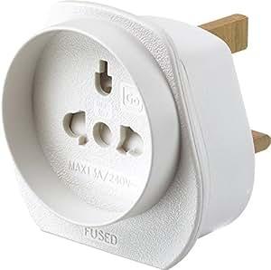 Worldwide (Europe, USA, Asia, Australia, Middle East) to UK Visitor Travel Adaptor plug / converter