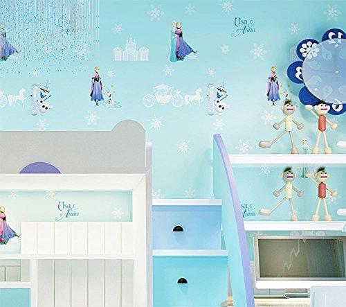 MEILI Cartoon grün Kinderzimmer Vliestapete Mädchen Prinzessin Zimmer Schlafzimmer Eis Romantik...