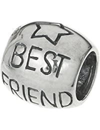Plata de Ley 925Estrella mejor amigo para siempre de la amistad cuentas para pulsera Europea