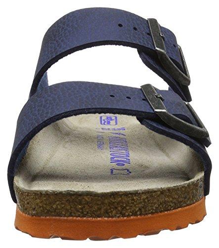 Birkenstock Unisex-Erwachsene Arizona Birko-Flor Softfootbed Pantoletten Blau (Desert Soil Blue)