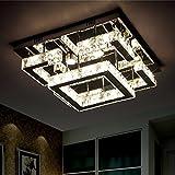 BMEI 55CM romantisches Schlafzimmer Deckenlampe moderne minimalistische LED-Kristalllampe moderner Kristallleuchter (tricolor Versprechen Dimming)