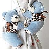 1�Paar Baby Kinderzimmer Schlafzimmer Cute Bear Fenster Vorhanghalter Raffhalter Schnalle Haken