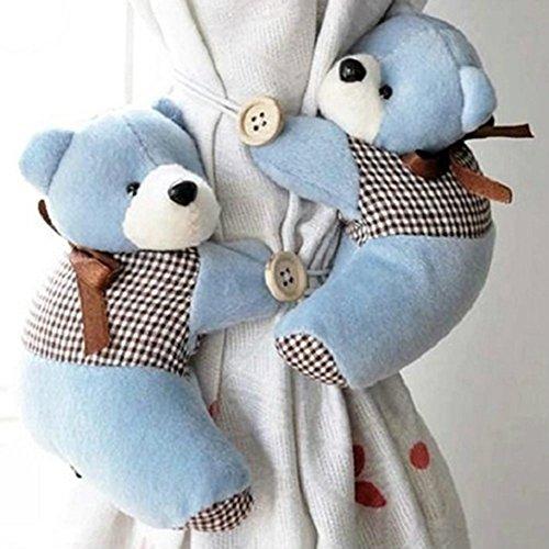 monicanine 1Paar Lovely Furry Bear Kinder Schlafzimmer Fenster Vorhang Raffhaltern Halt Rückseite Haken, Stoff, braun, Einheitsgröße (Vorhang Braun Zugbänder)