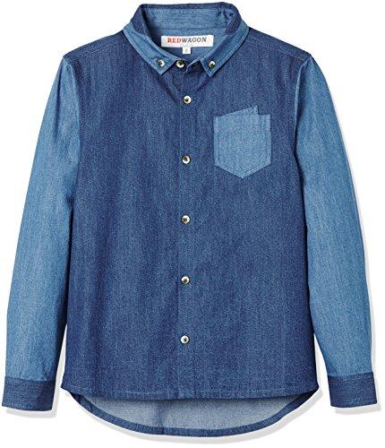 RED WAGON Jungen Jeanshemd, Blau (Blue), 122 (Herstellergröße: 7 Jahre)