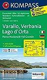 Varallo, Verbania, Lago d'Orta, Parco Nazionale Val Grande: Wanderkarte mit Aktiv Guide, Radrouten und alpinen Skirouten. Dt. /Ital. GPS-genau. ... 1:50 000 (KOMPASS-Wanderkarten, Band 97)