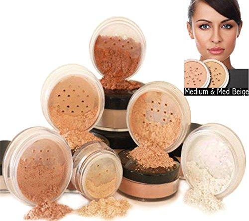 Mineral Kit 6 de maquillage pièces avec Fond de teint minéral naturel par Intelligent Cosmetics® 100 % Vegan et jamais testé sur les animaux SPF naturel, Choisissez votre Couleur de peau