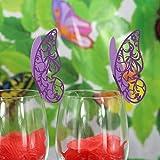FLAMEER 50pcs Nom De Papillon Violet Cartes De Place Mariage Dîner Décor De Tasse De Table