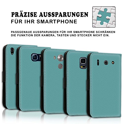 Wallet Book Style Flip Handy Tasche Case Schutz Hülle Schale Motiv Etui für Apple iPhone 6 / 6S - Variante UMV9 Design12 Design 6