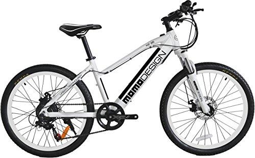 Momo Design K2, Bicicletta Elettrica Mountain Bike, 26\'\', Velocità 25km/h, Autonomia 32km, Nero/Bianco
