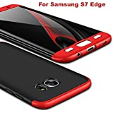 AEETZ Knight Series Back Cover for Samsung Galaxy S7 Edge (Black and Red)