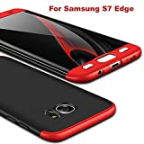 #6: Aeetz® Samsung Galaxy S7 Edge Case, 3in1 Dual Hybrid Double Dip Ultra Slim Knight Series Case For Samsung Galaxy S7 Edge Cover Hybrid PC [HARD] Full Protection Matte Phone Case For S7 Edge (Red Black Red)