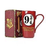 Harry Potter - Keramik Latte Macchiato Tasse - Hogwarts Express - 9 3/4 - Geschenkbox