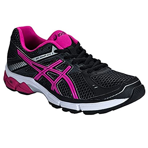 Womens Asics Womens Gel-Innovate 7 Running Shoes in black pink - UK 7