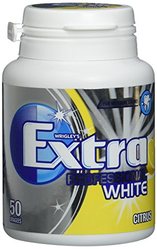 Wrigley's Extra Professional White Citrus Dose, 50 Dragees, 4er Pack (4 x 50 Dragees)