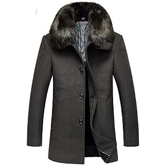 ipretty herren wolljacke winter verdickte mantel m nner wintermantel trenchcoat parka abnehmbare. Black Bedroom Furniture Sets. Home Design Ideas