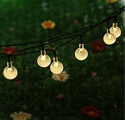 KEEDA Solar Globe Fairy Lights 30 Led Crystal Ball Patio String Light for Outdoor Garden