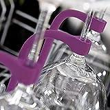 Footprintse Stemware Saver Flessibile Silicone Bicchiere da vino Rack Lavastoviglie Attacco Stemware Stabilizzatore Titolare Manutenzione Conservazione-colore: blu