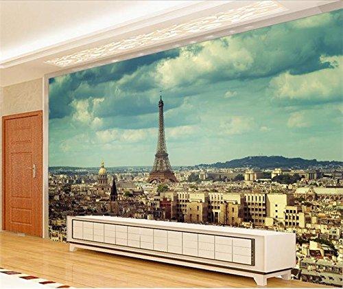Wxlsl 3D Fototapete Benutzerdefinierte Größe Mural Wohnzimmer Eiffelturm In Paris 3D Bild Foto Sofa Tv Hintergrund Wand Vlies Aufkleber-150cmx105cm (Paris-fenster-aufkleber)