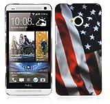 Cadorabo - TPU Hard Cover per HTC One (1.Gen. M7) - Case Cover Involucro Bumper Accessorio in Design: Stars And Stripes