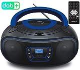 Tragbarer DAB+ CD-Player   Boombox   CD/CD-R   USB   Digitales FM Radio   30 Speicherplätze   AUX-In   Fernbedienung   Kopfhöreranschluss   Kinder Radio   CD-Radio   Stereoanlage   Kompaktanlage -