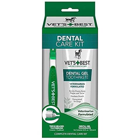 Vet S Best complet enzymatique Soin dentaire Dentifrice et brosse à dents kit pour chiens