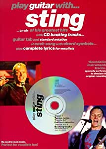 Play Guitar With... Sting. Partitions, CD pour Tablature Guitare, Ligne De Mélodie, Paroles et Accords