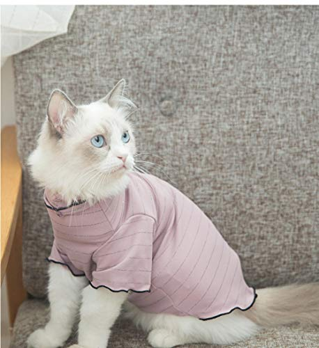 TAYIBO Haustier Katze Hundebekleidung Warm Jacke Mantel,Kitty Kleidung, Herbst Dünnschliff Hemd, Puder_S