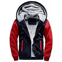 MANLUODANNI Men's Winter Black Warm Jacket Hooded Outwear Coat