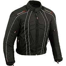 Dry-Lite Chaqueta de moto para hombre Protección impermeable , Grande