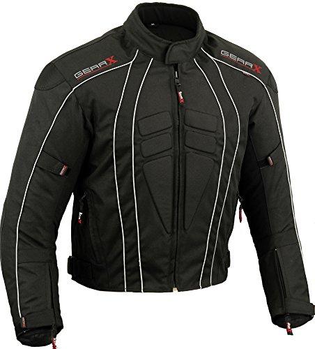 Dry-Lite Uomo Giacca da Moto Impermeabile Protezione Cappotto , XGrande