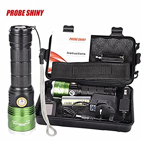 Superior Bright XML L2 T6 LED Anglewolf 5000 lumens Flashlight Torch +18650 Battery + UK Charger