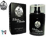 Man's Beard - Elixir de Barbe Premium Soie Hydratante - Fabrication Française - adoucit et protège les barbes - serum/huile à barbe pour homme - Senteur Musc/Homme - Contenance : 30 ml
