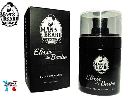 Man \'s Beard-Elixir von Bart Premium Seide Feuchtigkeitsspendende Endlosrolle Glättet und schützt die Bart-Serum/Öl Bartschneider für Herren-Musc/Herren-Fassungsvermögen: 30ml