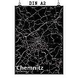 Mr. & Mrs. Panda Poster DIN A2 Stadt Chemnitz Stadt Black -