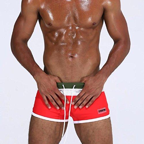 LJ&L Herren-Mode-Bade-Shorts, Strand-Shorts, Outdoor-Erweiterung weiche und bequeme Badehose, heiße Quellen, Schwimmen, Sandstrände, Wassersport-Multifunktions-Shorts B