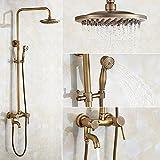GAO® Rubinetto Rame Vintage Bagno Doccia a mano soffione cascata lavandino rubinetto Chrome