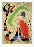 1art1 41308 Joan Miró - Die Nacht Poster Kunstdruck 80 x 60 cm