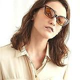 Jaminy Frau Männer Jahrgang Katzenauge Unisex Sonnenbrille Grunge Brille Brillen (F)