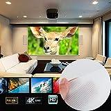 """Cewaal Tenda per proiettore pieghevole 16: 9 Display HD 60 """"Schermo per proiettore Tenda di proiezione in fibra di tela Cortile per esterni Home Cinema per HDTV Sport Movie Gaming"""