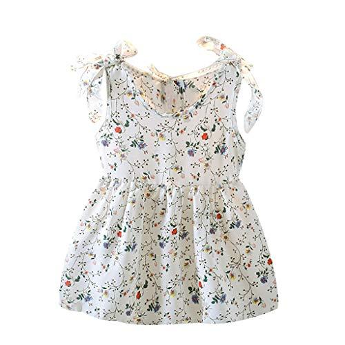Obestseller Kleider für Mädchen Kleinkind Baby Kinder Sommer Kleinkind Baby Mädchen Kleid Weste kleidet Kleidung Mädchen ärmellose Bänder Bogen Blumenkleid Prinzessin Kleider