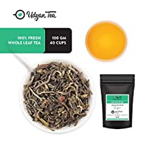 Udyan Himalayan Mist White Tea, 100 gm (40 Cups) | Loose Leaf Peony White Tea | Downy Tips White Tea Sourced from Himalayas | Low Caffeine, High Antioxidants | Packed in Resealable Vacuum Pouch