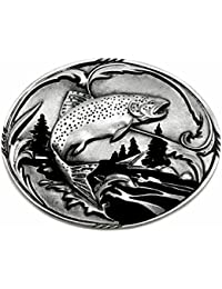 Fishing Belt Buckle Trout Design Authentic Siskiyou Branded Product